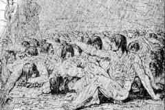 Luigi Ademollo - Ciacco, dalle Illustrazioni della Divina Commedia, 1817. Incisione
