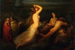 Altamura Saverio - Episodio della Divina Commedia. Olio su tela, 62 x 81 cm. Firma in basso a sinistra