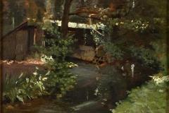 Altamura Saverio - Ruscello. Olio su tavola, 26 x 35 cm. Le Grandi Raccolte dell'800 - La raccolta del DUCA DI SAN DONATO di Napoli, 1930