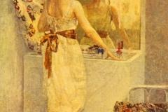 Giuseppe Amisani. Donna alla Toilette: Tecnica: Olio su Tela