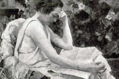 Giuseppe Amisani. In Giardino: Tecnica: Olio su Tela
