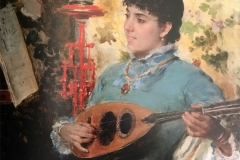 Federico Andreotti. Ragazza con Mandolino - Tecnica: Olio su Tela, 29 x 24 cm