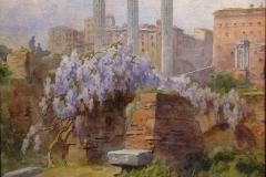 """Filippo Anivitti. Foro Romano - Acquarello su Carta, 50 x 30 cm. Firmato in basso a sinistra """"F.Anivitti"""""""