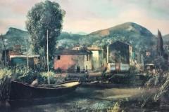 Pietro Annigoni. Paesaggio - Tecnica: Litografia