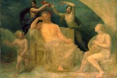 Appiani Andrea - Giove addormentato al suono della lira di Apollo ferito da una freccia d'Amore