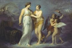 Appiani Andrea - Venere allaccia il cinto a Giunone, 1810-12. Olio su tela, 100 x 142 cm