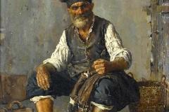 Raffaele Armenise. Pescatore Napoletano - Tecnica: Olio su Tela