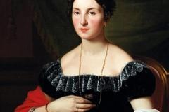Ayres Pietro - Ritratto di Adele Elisabeth von Frantzius, 1821. Olio su tela, 84 x 64,5 cm