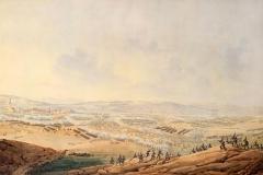 Giuseppe PietroBagetti - Combattimento a Eckmul presso Ratisbona - Tecnica: Acquarello e matita su carta, 54 x 85 cm