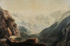 Giuseppe PietroBagetti - Veduta del Colle di Tenda - Tecnica: Acquarello, 60, 5 x 90 cm