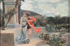 Bargellini Giulio - Idillio. Olio su tela