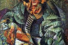 Umberto Boccioni. L'Antigrazioso - Tecnica: Olio su Tela, 80 x 80 cm