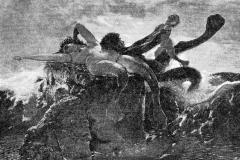 Arnold Böcklin - Famiglia di tritoni. Olio su tela