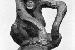 Rembrandt Bugatti - Scimmia sopra la palla