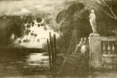 Cabianca Vincenzo - Illustrazione di Romanza, Isaotta Guttadauro di D'Annunzio, 1886. Disegno su carta