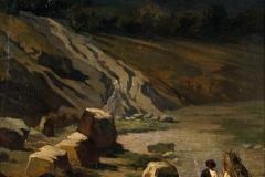 Cammarano Michele - Il ritorno. Olio su tela, 70 x 50 cm. Firma in basso a destra