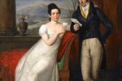 Autoritratto con moglie in interno neoclassico - Camuccini Vincenzo -