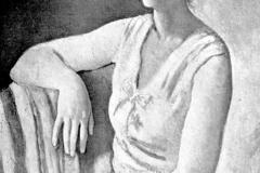 Felice Carena. Ritratto in Rosa - Tecnica: Olio su Tela