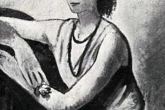 Felice Carena. Ritratto - Tecnica: Olio su Tela, 90 x 70 cm