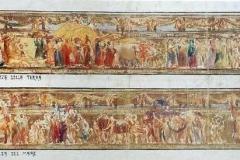 Galileo Chini. Bozzetto per la Decorazione del Salone delle Feste all'Esposizione Internazionale di Roma, 1911 - Tecnica: Olio su Tela, 50 x 178 cm
