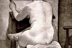 Galileo Chini. La Modella - Tecnica: Olio su Tela