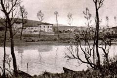 Galileo Chini. Mattino di Novembre sull'Arno - Tecnica: Olio su Tela