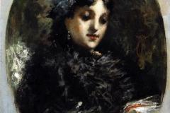 Ritratto dell'attrice Emma Ivon, 1875 circa - Cremona Tranquillo