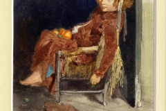Bimba che gioca con aranci - Dalbono Eduardo