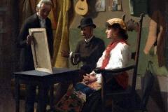 La vendita del dipinto, 1871 - D'Ancona Vito