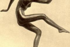 Nicola D'Antino. Danzatrice | Bronzo. Esposta nel 1921 alla Galleria Pesaro, Milano