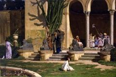 Giochi nel parco - Marco De Gregorio - Verismo e Realismo. Olio su tela
