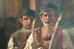 Preti in funzione (particolare), 1875 - Marco De Gregorio - Verismo e Realismo. Olio su tela