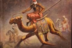Leonardo De Mango - Turco sul cammello - Olio su tela 40 x 30 cm