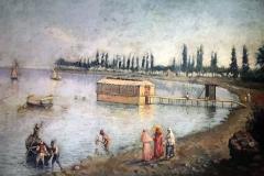 Leonardo De Mango - Veduta marina - Olio su tela 50 x 30 cm