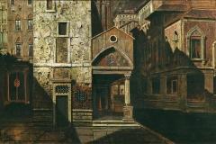 Mario De Maria. Venezia | Tecnica: olio su cartone