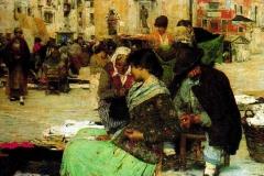 Giacomo Favretto - Mercato in Campo San Polo