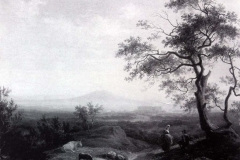 Salvatore Fergola. Reggia di Caserta con Vesuvio sul Fondo, 1843 - Tecnica: Olio su tela, 80 x 92 cm