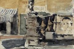 Mariano Fortuny. Studio di Fontana | Tecnica: Acquerello su Carta, 35 x 25 cm