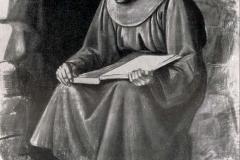 Achille Funi. Frate Leone - Tecnica: Cartone per l'Abside della Chiesa di S. Francesco a Tripoli, 200 x 178 cm