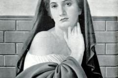 Achille Funi. Lucrezia - Tecnica: Olio su Tavola, 52 x 66 cm