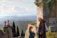Lorenzo Gelati, Dalle colline di Fiesole - Tecnica: Olio su Tela. Firma in basso a destra