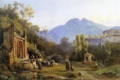 Giacinto Gigante. La Fontana di Sant'Arcangelo a Cava