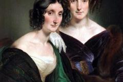 Ritratto delle signore Carolina Grassi e Bianca Bignami, sorelle Gabrini, 1835 | Hayez Francesco