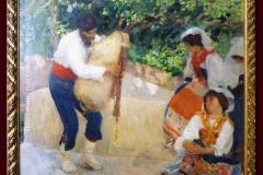 Camillo Innocenti. Canzone Ciociara - Tecnica: Olio su Tela, 125 x 142 cm