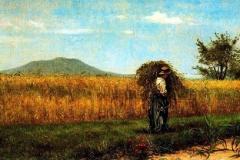Silvestro Lega. Motivo di Grano, 1862 - Olio su Tea, 31,5 x 61,7 cm