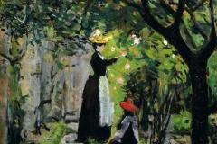 Silvestro Lega. Le Sorelle Bandini nel Roseto, 1890