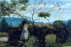 Silvestro Lega. Tra i Fiori del Giardino, 1862