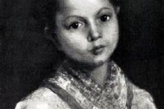 Emilio Longoni. Ritratto Femminile - Tecnica: Olio su Tela, Firma in basso a sinistra