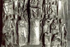 Arturo Martini. La Giustizia Corporativa - Bronzo, 100 x 100 x 16 cm. Bozzetto per l'Altorilievo del Palazzo della Giustizia di Milano