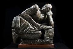 Arturo Martini. Tito Livio, 1941 - Bronzo, esemplare unico, secondo bozzetto, 49,5 x 51 x 27 cm.